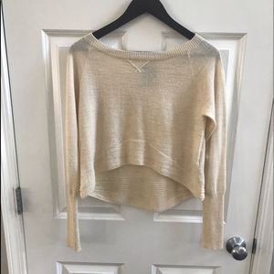 Dolce Vita Cream Crop ( Hi/ Low) Sweater